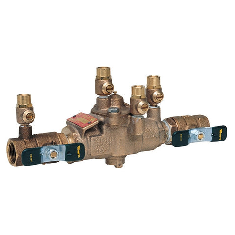 WATTS LF009M2-QT 0391007 2 TXT BRONZE REDUCED PRESSURE ZONE ASSEMBLY WITH QUARTER TURN SHUTOFF VALVES LEAD FREE