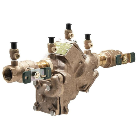 WATTS LF909-QT 0391009 1 TXT BRONZE REDUCED PRESSURE ZONE ASSEMBLY WITH QUARTER TURN SHUTOFF VALVES LEAD FREE
