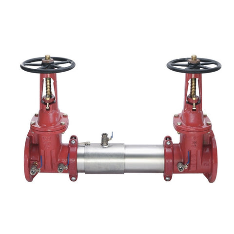WATTS 757-OSY 0111511 3 FLG STAINLESS STEEL DOUBLE CHECK BACKFLOW PREVENTER ASSEMBLY WITH OPEN STEM AND YOKE SHUTOFF VALVES