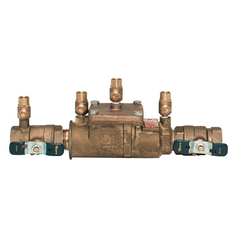 WATTS LF007M2-QT 0063234 11/2 TXT BRONZE DOUBLE CHECK BACKFLOW PREVENTER ASSEMBLY WITH SHUTOFF VALVES LEAD FREE
