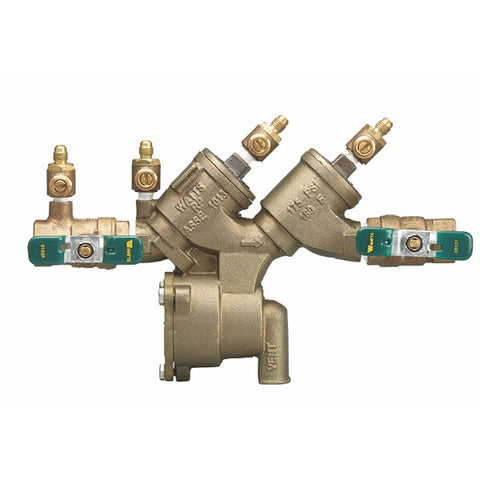 WATTS LF919-QT 0065376 2 TXT BRONZE REDUCED PRESSURE ZONE ASSEMBLY WITH QUARTER TURN SHUTOFF VALVES LEAD FREE