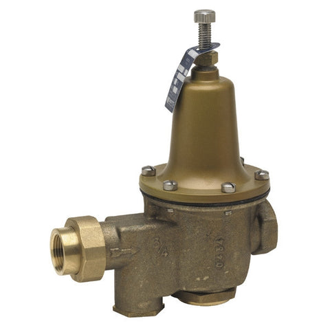 WATTS LFU5B-Z3 0009154 1 THRD UNIONXT HIGH PERFORMANCE BRASS 25-75PSI WATER PRESSURE REDUCING VALVE SET AT 50PSI LEAD FREE