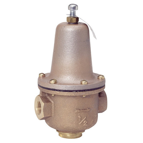 WATTS LF223 0298500 1/2 TXT HIGH CAPACITY BRONZE 25-75PSI WATER PRESSURE REDUCING VALVE LESS STRAINER SET AT 50PSI LEAD FREE