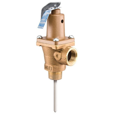 WATTS LF40XL-125210 0556007 1 MXF BRONZE 125-210PSI AUTOMATIC RESEATING TEMP AND PRESSURE RELIEF VALVE ASME LEAD FREE