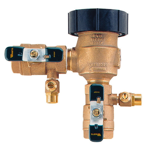 WATTS LF800M4QT 0792014 11/2 TXT BRONZE ANTI-SIPHON VACUUM BREAKER WITH QUARTER TURN SHUTOFF VALVES LEAD FREE