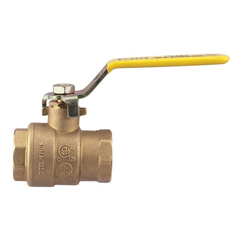 WATTS LFFBVS-3C 0555117 3 SXS BRASS 2 PIECE FULL PORT BALL VALVE WITH LEVER HANDLE LEAD FREE IMPORT