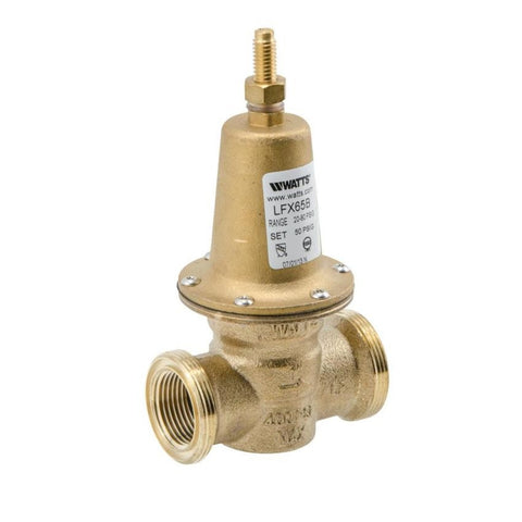 WATTS LFX65BDU-S 0010039 11/2 DBL SWT UNION CARTRIDGE STYLE BRONZE 20-80PSI WATER PRESSURE REDUCING VALVE SET AT 50PSI LEAD FREE