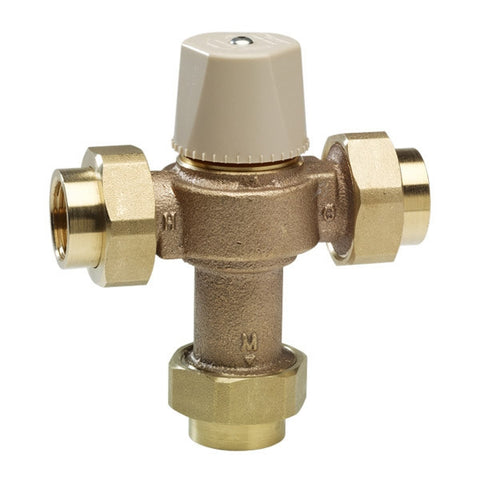 WATTS LFMMVM1-UT 0559119 3/4 DBL THRD UNION BRONZE THERM MIXING VALVE LEAD FREE