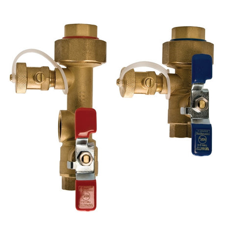WATTS LF-TWH-FT-HCN-RV 0100156 3/4 TXT BRASS HOT & COLD TANKLESS WATER HEATER VALVE SET WITH 150PSI RELIEF VALVE LEAD FREE