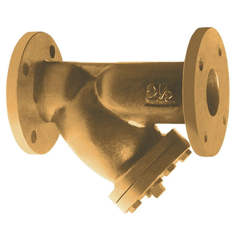 WATTS 77F-BI 0823050 3 FLG BRONZE CLASS 150 WYE STRAINER WITH PERFORATED STAINLESS STEEL SCREEN