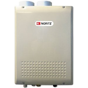 NORITZ NRC83-DV-NG 157MBTU 8.3 GALLONS PER MINUTE CONDENSING INDOOR RESIDENTIAL DIRECT VENT WATER HEATER 24.2 HEIGHT 18.3 WIDTH 9.4 DEPTH