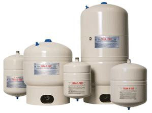 AMTROL ST-5 150 PSI 2GAL HIGH GLOSS TAN THERM-X-TROL STEEL INLINE DIAPHRAGM TYPE THERMAL EXPANSION TANK NON-ASME