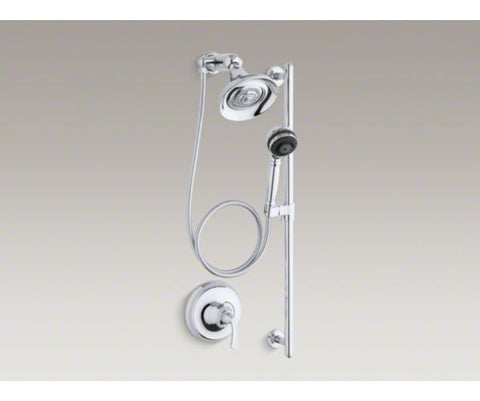 KOHLER K-10827-4-CP 1 LEVER HANDLE POLISHED CHROME FORTE ESSENTIALS SHOWERING PACKAGE
