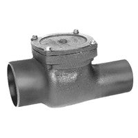 ZURN Z1090-2NH 2 NO HUB DURA-COATED CAST IRON FLAPPER TYPE BACKWATER VALVE