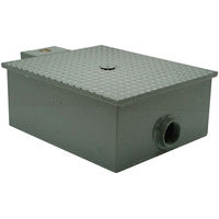 ZURN GT2701-50-4NH 4 NO-HUB 50 GALLON PER MINUTE LOW PROFILE GREASE TRAP WITH FLOW CONTROL