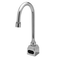 ZURN Z6920-CP8-MT POLISHED CHROME AQUASENSE 1 HOLE DECK MOUNT 1 STEM SENSOR LAVATORY FAUCET WITH HIGH ARC SPOUT AND COVER PLATE BATTERY POWERED