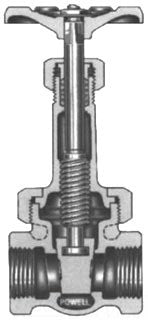 POWELL 375-2IN BRZ THD GATE VALVE
