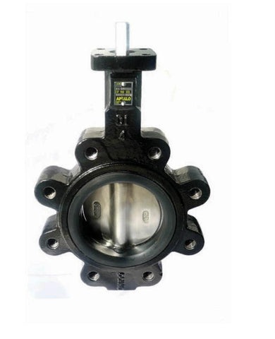 APOLLO LD14104BE11 4 LUG DUCTILE IRON BUTTERFLY VALVE WITH ALUMINUM/ BRONZE DISC EPDM SEAT & 10 POSITION HANDLE