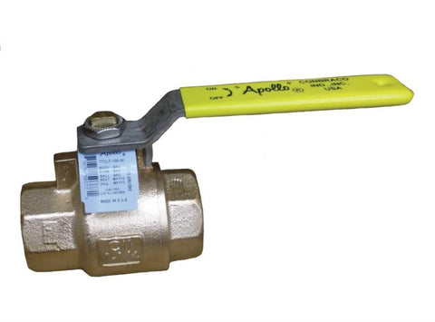 APOLLO 77CLF14801 2 FIP LEAD FREE BRONZE 150SWP/600PSI 2 PIECE FULL PORT ECONOMY BALL VALVE WITH STAINLESS STEEL BALL & STEM STANDARD