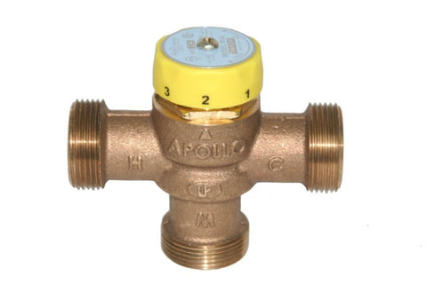 APOLLO 34ALF214T 3/4 FIP BRONZE LEAD FREE 150PSI 85-140 DEGREE MASTER MIXING VALVE ASSE 1017 CERTIFIED
