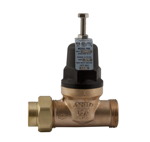 APOLLO 36ELF12501X 1 PEX DBL UNION BRONZE PRESSURE REDUCING VALVE LEAD FREE
