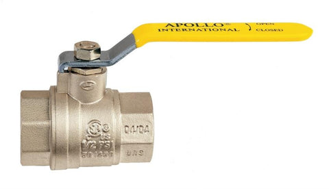 APOLLO 94A20001 3 SWT BRASS FULL PORT BALL VALVE CSA UL