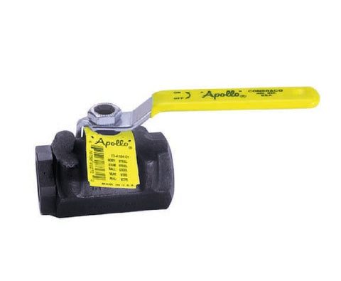 APOLLO 73A14801 2 FIP CARBON STEEL 150SWP/1500PSI 2 PIECE STANDARD PORT BALL VALVE WITH STAINLESS STEEL BALL & STEM STANDARD