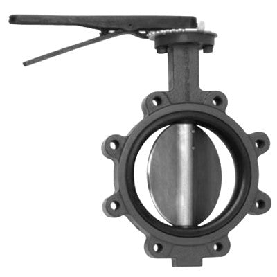 MAINLINE ML938BESL-10 10 LUG DUCTILE IRON BUTTERFLY VALVE WITH LEVER HANDLE ALUMINUM BRONZE DISC AND EPDM SEAT
