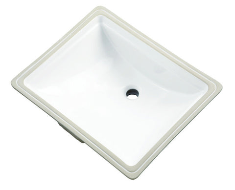 GERBER 12-760 WHITE VITREOUS CHINA LOGAN SQUARE 18-3/8X14-7/8 UNDERMOUNT LAVATORY BASIN