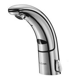SLOAN 3335001 EAF150 POLISHED CHROME OPTIMA IQ 1 HOLE DECK MOUNT LAVATORY FAUCET WITH 2.2 GALLONS PER MINUTE AERATOR ASME BATTERY POWERED SENSOR ACTIVATED ASME COMPLIANT LEAD FREE
