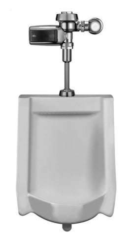 SLOAN 10001403 1000.1403 WHITE ROYAL OPTIMA PLUS SMOOTH 3/4 TOP SPUD .13 GALLONS PER FLUSH WALL MOUNT HIGH EFFICIENCY URINAL WITH EXPOSED BATTERY POWERED SENSOR ACTIVATED FLUSH VALVE