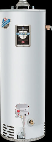 BRADFORD WHITE RG250T6N 40MBTU 50 GALLON TALL ENERGY SAVER ATMOSPHERIC VENT NATURAL GAS RESIDENTIAL WATER HEATER 60-1/2 HEIGHT 22 DIAMETER WITH T&P VALVE 6 YEAR WARRANTY