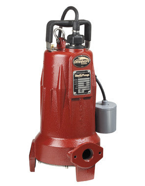 LIBERTY LSG202M 19.5X9.5W CAST IRON 2HP 1 PHASE 208-230 VOLT OMNIVORE SUBMERSIBLE GRINDER PUMP