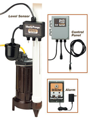 LIBERTY ELV280 22.65 HEIGHT CAST IRON 1/2HP 1 PHASE 115 VOLT ELEVATOR SUMP PUMP SYSTEM WITH OILTECTOR CONTROL & ALARM