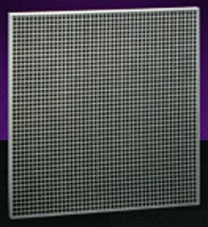 HART AND COOLEY RE5TI 22X22 BRIGHT WHITE ALUMINUM T-BAR EGG CRATE RETURN-AIR GRILLE WITH 1/2X1/2X1/2 GRID CORE AND R4.2 FIBERGLASS BACK