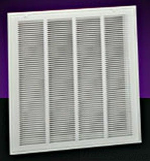 HART AND COOLEY 659TI 20X20 BRIGHT WHITE STEEL T-BAR LANCED-FACE FILTER GRILLE WITH 1/3 SPACED BLADES AND INSULATED BACK