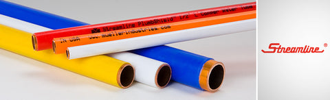 1/2ODX50 REFRIGERATION YELLOW PLASTIC COATED COPPER TUBE