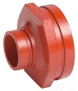 VICTAULIC 050-0 8X6 GRV ORANGE ENAMEL DUCTILE IRON CONCENTRIC REDUCER