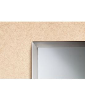 BOBRICK B-165 2436 24X36 MIRROR WITH STAINLESS STEEL CHANNEL FRAME AND 20 GAUGE STEEL CONCEALED WALL HANGER
