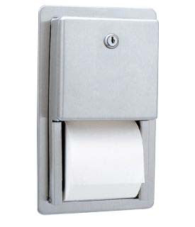 BOBRICK B-3888 CLASSIC RECESSED MULTI-ROLL TOILET TISSUE DISPENSER ADA COMPLIANT