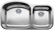 BLANCO 440242 SATIN POLISHED 18 GAUGE STAINLESS STEEL WAVE 3713/32X207/8X10X7 UNDERMOUNT 13/4 KITCHEN SINK