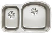 BLANCO 441262 REFINED BRUSHED 18 GAUGE STAINLESS STEEL STELLAR 313/4X201/2X7X9 UNDERMOUNT 13/4 REVERSE BOWL KITCHEN SINK