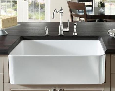 BLANCO 441694 WHITE CERANA FIRECLAY FRONT APRON SINGLE BOWL 30X19X91/4 UNDERMOUNT KITCHEN SINK