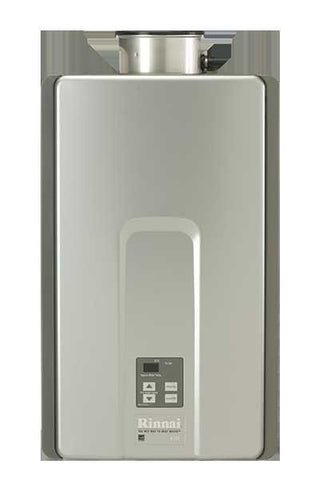 RINNAI RL94eN 9.4 GPM ULNOX 199K BTU ENERGY STAR NATURAL GAS EXTERNAL TANKLESS RESIDENTIAL/ COMMERCIAL WATER HEATER WITH ISOLATION VALVES 12 YEAR WARRANTY 23 HEIGHT 14 WIDTH 9.3 DEPTH
