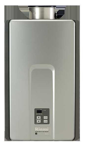 RINNAI RL75eN 7.5 GPM ULNOX 180K BTU ENERGY STAR NATURAL GAS EXTERNAL TANKLESS RESIDENTIAL/ COMMERCIAL WATER HEATER WITH ISOLATION VALVES 12 YEAR WARRANTY 23 HEIGHT 14 WIDTH 9.3 DEPTH