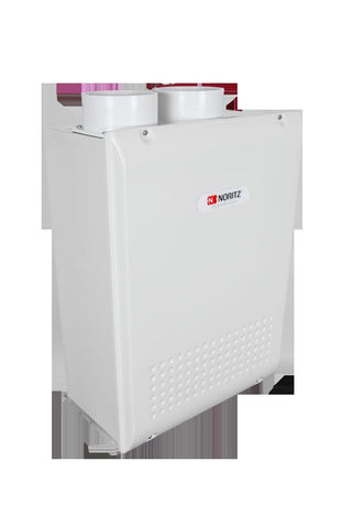 NORITZ NRC98-OD-NG 180MBTU 9.8 GALLONS PER MINUTE CONDENSING OUTDOOR RESIDENTIAL LOX NOX WATER HEATER 24.2 HEIGHT 18.3 WIDTH 9.4 DEPTH