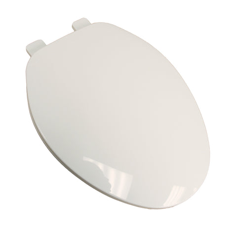 COMFORT SEAT C101100 WHITE BUILDER GRADE PLASTIC ELONGATED CLOSED FRONT TOILET SEAT WITH COVER