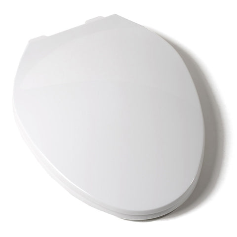 COMFORT SEAT C104200 WHITE DELUXE PLASTIC ELONGATED CLOSED FRONT TOILET SEAT WITH COVER