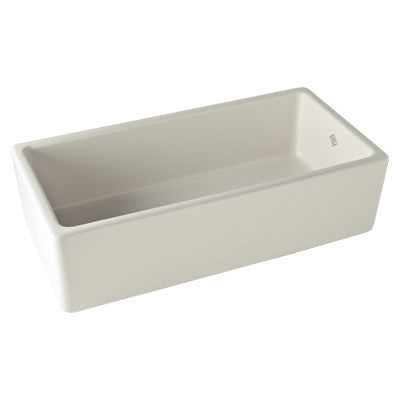 ROHL RC3618WH WHITE FIRECLAY SHAWS 36X18X8-1/2 TILE-IN APRON FRONT SINGLE BOWL KITCHEN SINK