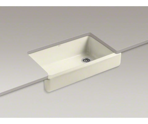 KOHLER K-6488-FD CANE SUGAR CAST IRON WHITEHAVEN 3511/16X219/16X95/8 SELF-TRIMMING SHORT APRON SINGLE BOWL KITCHEN SINK